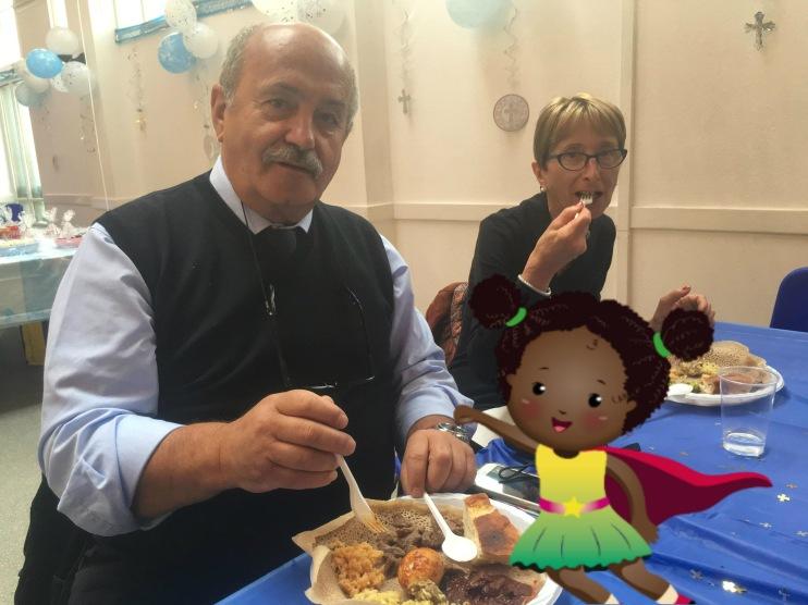 Elvio and Esta eating injara