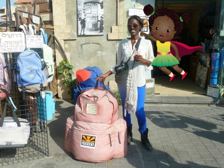 Kai backpacking Isreal with TMK