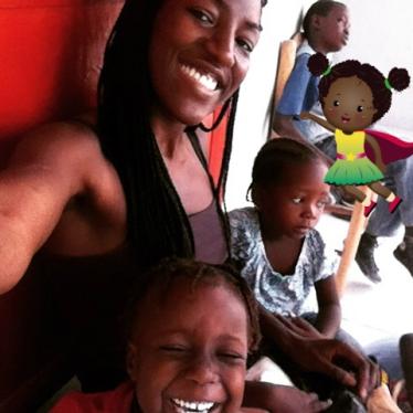 Kai volunteering in Haiti