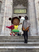 TM and Kai in Turkish mosque